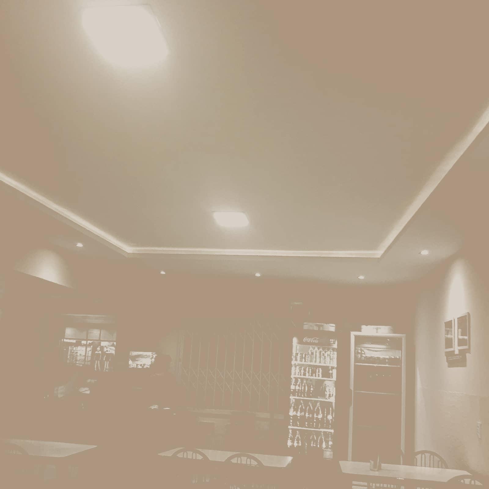 Sanca aberta com drywall